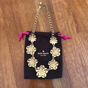 JCrew Gold Flower Adjustable Length Necklace